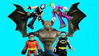 Imaginext Magician Breaks Joker Bane & Riddler Out Of Batman & Robin Batbot Robo Batcave Jail
