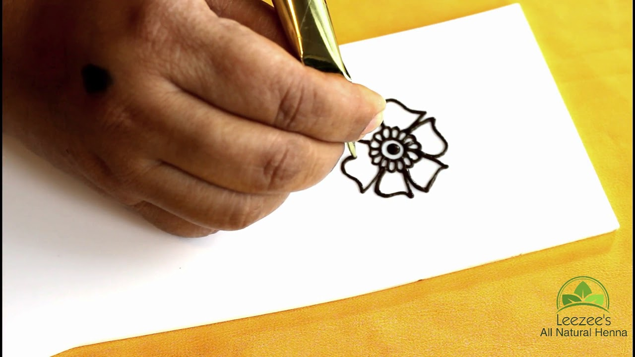 How To Step By Step Easy And Simple Henna Flower Design For