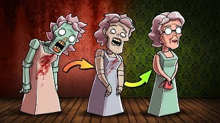 Minecraft - GRANNY TURNS BACK INTO A HUMAN!? (Granny in Minecraft)