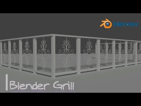 Blender Tutorial Steel Railing Grill Designs For Balcony Part 1