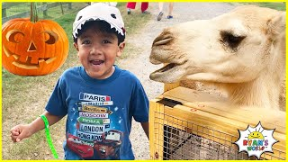 Ryan's Trip to the Farm with 1hr kids activities Rides and animals!!!
