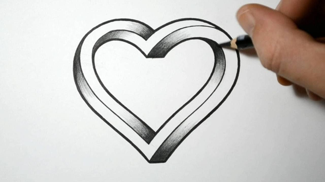 Ilüzyon Kalp çizimi Resim çizimi Youtube