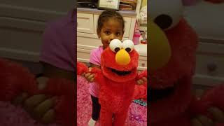 Zoe acting as ELMO!