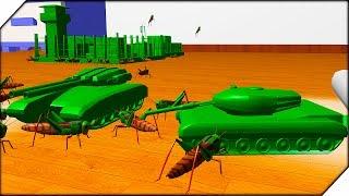 РАСА НАСЕКОМЫХ У НАС В КОМНАТЕ - Home Wars # 2 БИТВА ЖУКОВ И СОЛДАТИКОВ  Мультик про солдатиков