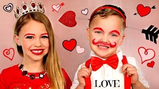 Queen of Valentines and Cupid Makeup with Costumes