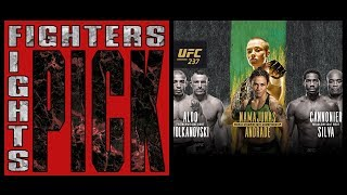 Fighters Pick Fights - UFC 237 'Namajunas vs Andrade' & 'Cannonier vs Silva'