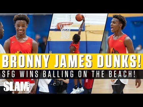 Bronny James FIRST-EVER AAU DUNK!! Strive For Greatness Wins Ballin' on the Beach TITLE 🏆