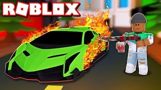 DESTROYING MY $1,000,000,000 LAMBORGHINI IN ROBLOX
