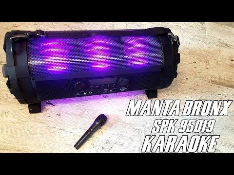 Manta BRONX SPK 95019 - test, recenzja głośnika bluetooth i zestawu karaoke