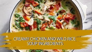 Food and Health care tips: Creamy Chicken and Wild Rice Soup