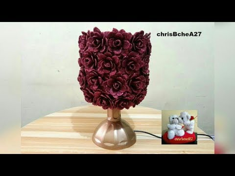 Diy 57 Table Lamp Made Of Recycled Egg Cartons Youtube