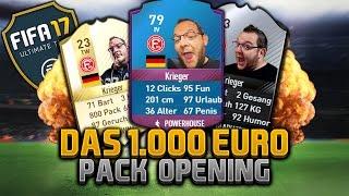HALLO IBRA  | DAS 1.000€ Pack-Opening 10/20 | FIFA 17 FUT