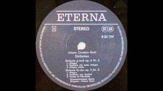 Johann Christian Bach, SINFONIE  g moll op 6 Nr 6 and op 9 Nr 2, Helmut Koch, cond