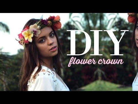 DIY Fresh Flower Crown Tutorial: Kauai Edition!