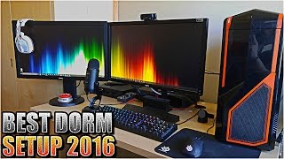 INSANE COLLEGE DORM ROOM GAMING PC AND CONSOLE GAMING SETUP 2016! PC PS4 XBOX BEST DORM GAMING SETUP