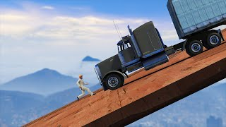 RUN FROM THE TRUCKS! (GTA 5 Funny Moments)