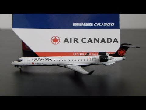 1:400 Gemini Jets Air Canada Express Bombardier CRJ 900 C-GJZV Unboxing and Review