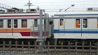 【東武6050系 6155F+8000系 8506Fで連結したまま1か月半経過】東武60000系 61609F 前面車番無しで留置。特急りょうもう号 200系 207F 南栗橋入場