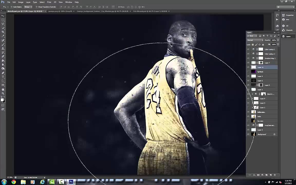 6dac6c104808 Kobe Bryant NBA Speed Art - Photoshop - YouTube