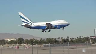 las vegas sands corp boeing 747sp 21 vq bms arrives at las vegas