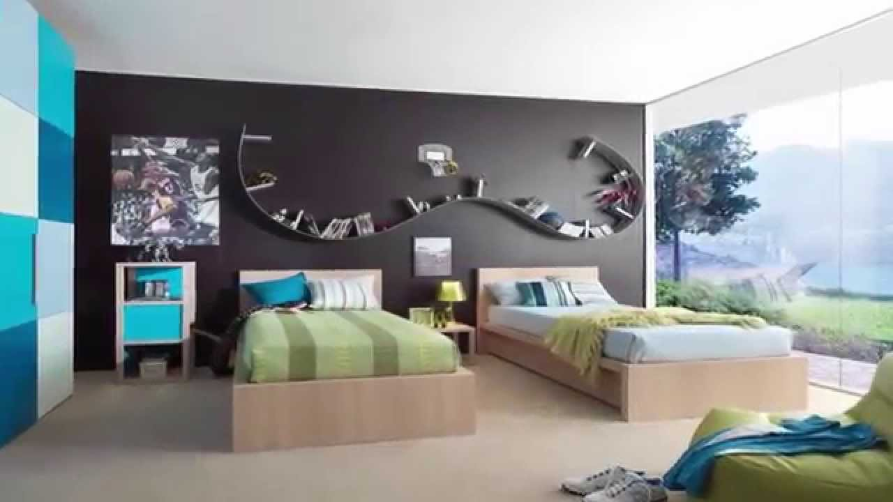 Decorar dormitorio juvenil para adolescente hombre youtube for Decorar paredes dormitorio juvenil