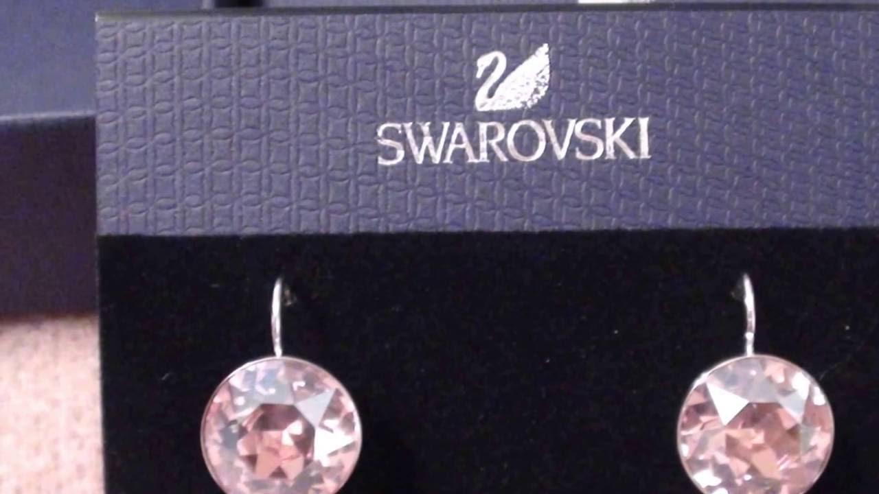 c5764847e54 SWAROVSKI EARRINGS BELLA Drop Earrings... - YouTube