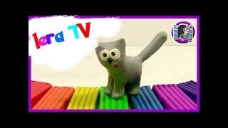 ЛЕПИМ ИЗ ПЛАСТИЛИНА - Кошку с котятами  (Lera TV)