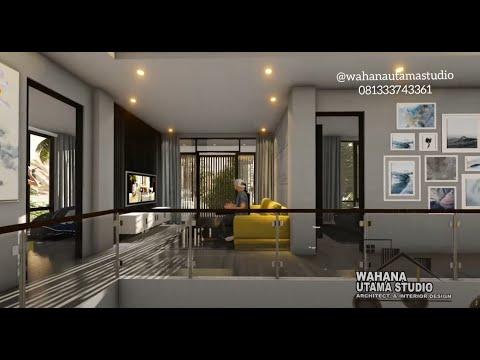 desain rumah modern dengan interior mewah bapak tommy