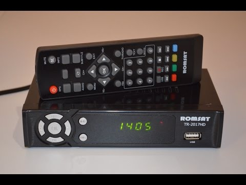Romsat TR-2017HD (продолжение серии Trimax TR-2012HD) DVB-T2 тюнер Т2 обзор и настройкаиз YouTube · С высокой четкостью · Длительность: 12 мин40 с  · Просмотры: более 3.000 · отправлено: 9-3-2017 · кем отправлено: Сергей Like