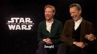Domhnall Gleeson & Richard E Grant on Christmas celebrations with the First Order