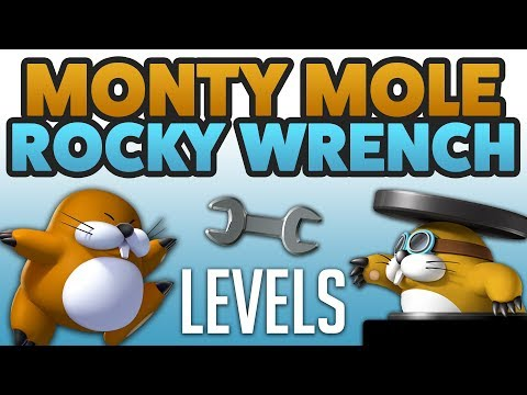 Super Mario Maker - MONTY MOLES & ROCKY WRENCHES! - Enemy Creation Challenge [#20]