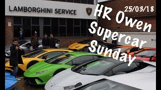 HR Owen Supercar Sunday 2018 - LAMBORGHINI, BUGATTI, P1, GT2 RS, CARRERA GT + MORE!!