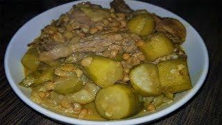 طريقة عمل مرقة الكوسة ( الشجر ) - اكلات بالكوسة وصفات طبخ من المطبخ العراقي
