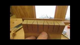 Curved Blockfront Dressing Table   Detail Half Blind Dovetails & Drawer Bottoms Step 20