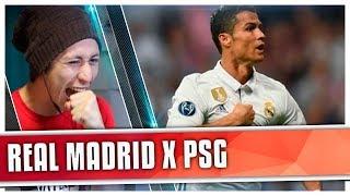 REAGINDO À REAL MADRID X PSG AO VIVO
