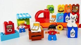 Lego Vídeos en español 🚂 Aprendemos los productos 🍴 con juguetes de #LEGO ✨ Vídeo para niños