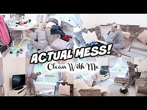 actual-mess-//-clean-with-me-//-cleaning-motivation-//-speed-clean-//-time-lapse-cleaning
