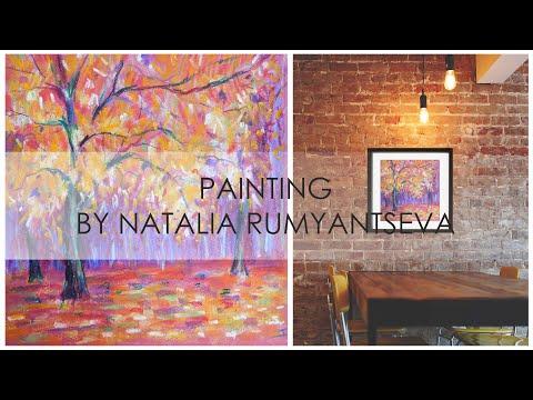 Pastel Landscape Painting Video – The Golden Autumn by Natalia Rumyantseva