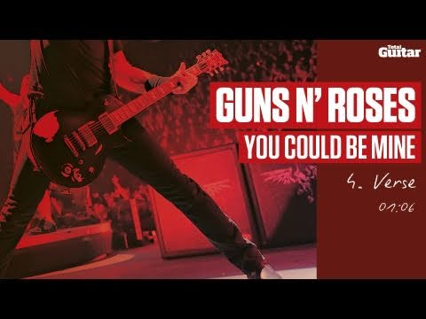 Guitar Lesson: Guns N' Roses 'You Could Be Mine' -- Part Four -- Verse (TG216)