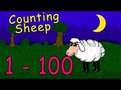 Counting Sheeps - Learn the numbers from 1 -100 in German - fast and easy