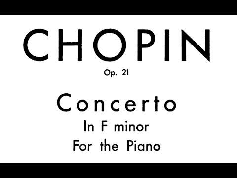 Chopin Piano Concerto No. 2 in f minor, Op. 21 (Zimerman)
