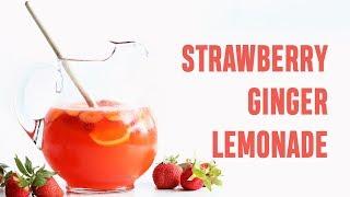 Sugar Free Pink Strawberry Ginger Lemonade