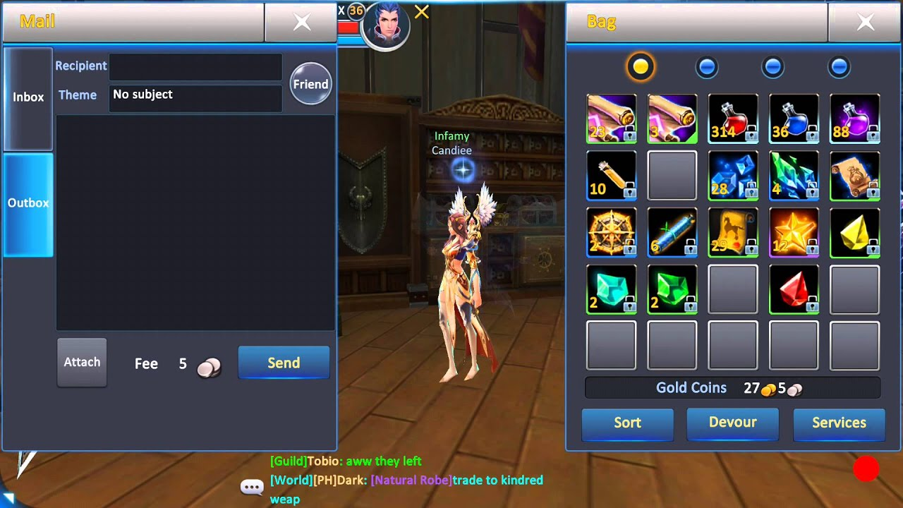 Android mmorpg with trading system