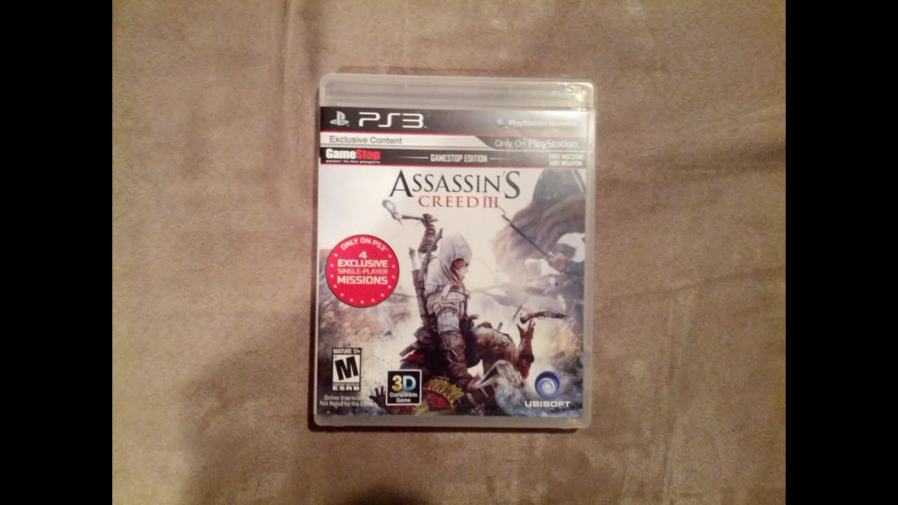 Assassins Creed 3 Gamestop Edition Unboxing Ps3 Hd Youtube