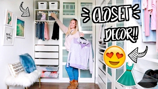 NEW ROOM DECOR!! UPDATED CLOSET TOUR!! AlishaMarieVlogs