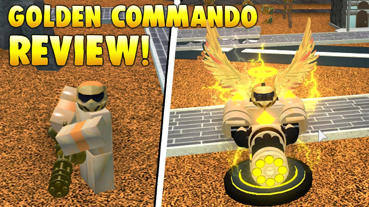 Golden Commando Review Tower Battles Roblox Youtube