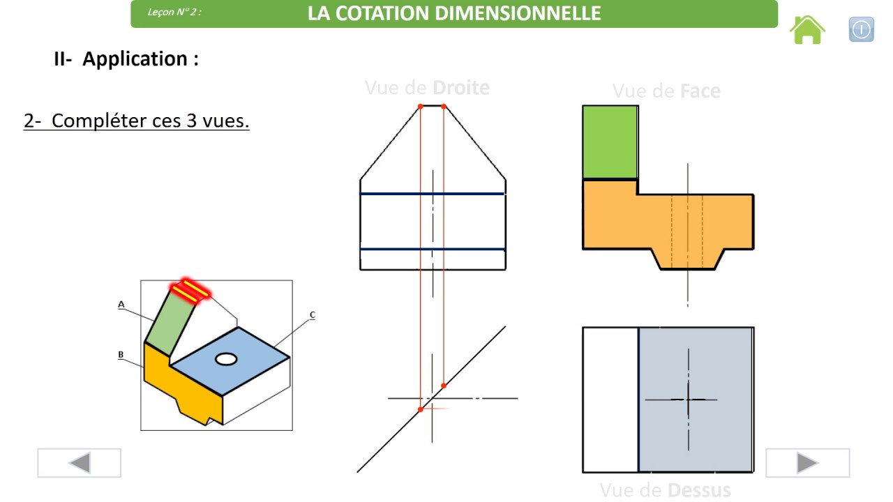 Projection Orthogonale Et Cotation Dimensionnelle Youtube