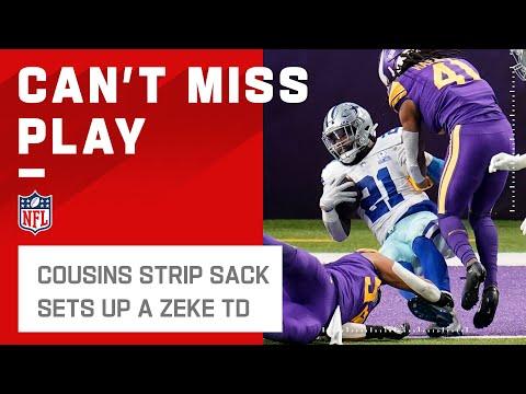 [Highlight]Cowboys Strip Sack Sets Up a Zeke TD!