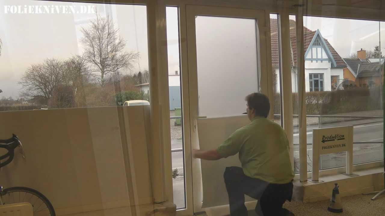 opsætning af folie på vinduer