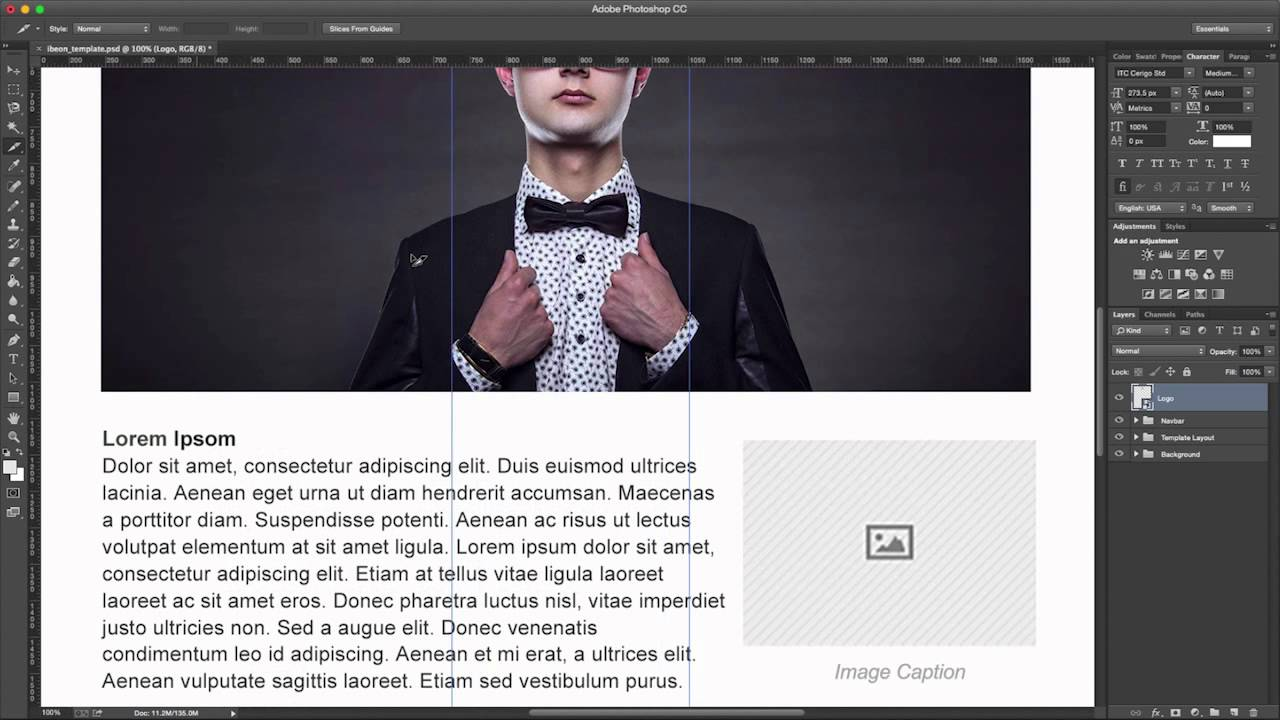Email Template Tutorial (1 of 5): Photoshop Asset Preparation - YouTube